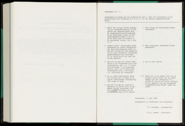 Raadsverslagen van de gemeente Leeuwarden, 1865-2007 (Schriftelijke vragen) 1980-01-01