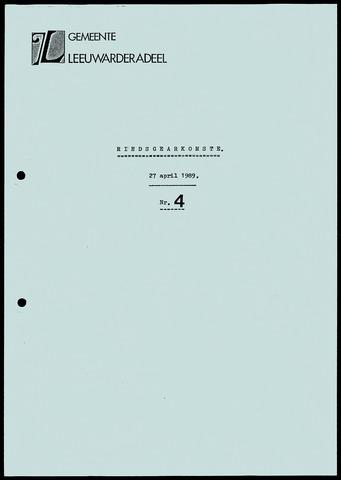 Notulen van de gemeenteraad van Leeuwarderadeel 1989-04-27