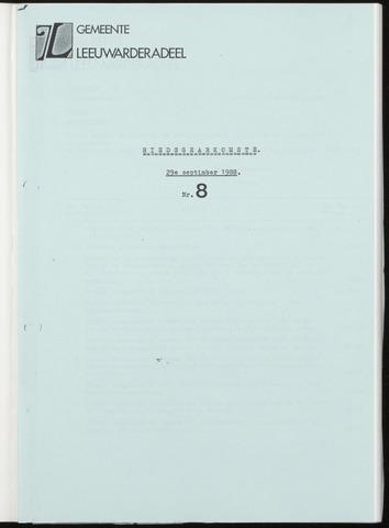 Notulen van de gemeenteraad van Leeuwarderadeel 1988-09-29