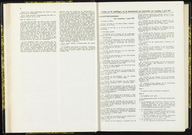 Raadsverslagen van de gemeente Leeuwarden, 1865-2007 (Notulen) 1957-04-03