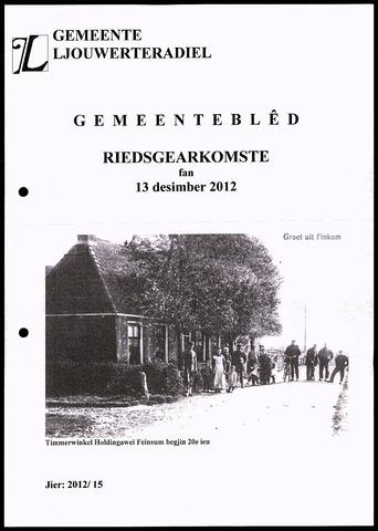 Notulen van de gemeenteraad van Leeuwarderadeel 2012-12-13