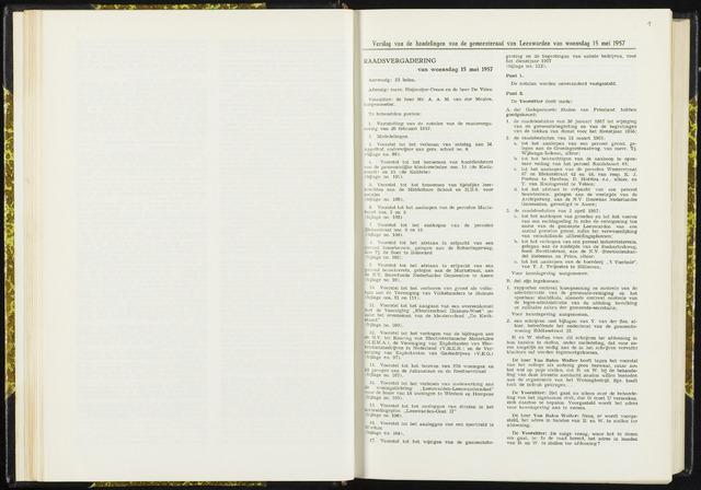 Raadsverslagen van de gemeente Leeuwarden, 1865-2007 (Notulen) 1957-05-15