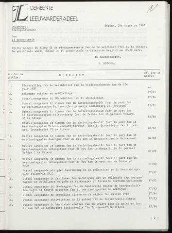 Notulen van de gemeenteraad van Leeuwarderadeel 1987-09-03