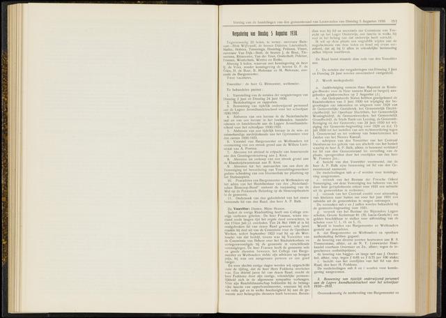 Raadsverslagen van de gemeente Leeuwarden, 1865-2007 (Notulen) 1930-08-05