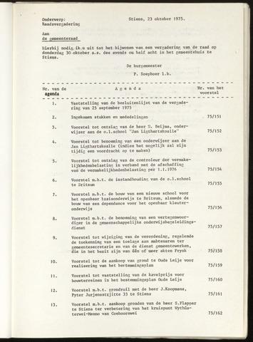 Notulen van de gemeenteraad van Leeuwarderadeel 1975-09-25
