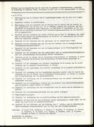Notulen van de gemeenteraad van Leeuwarderadeel 1969-08-28