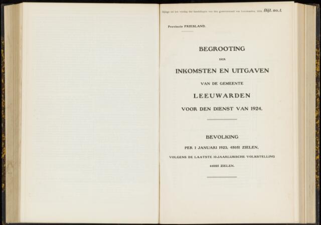 Raadsverslagen van de gemeente Leeuwarden, 1865-2007 (Bijlagen) 1924-01-01