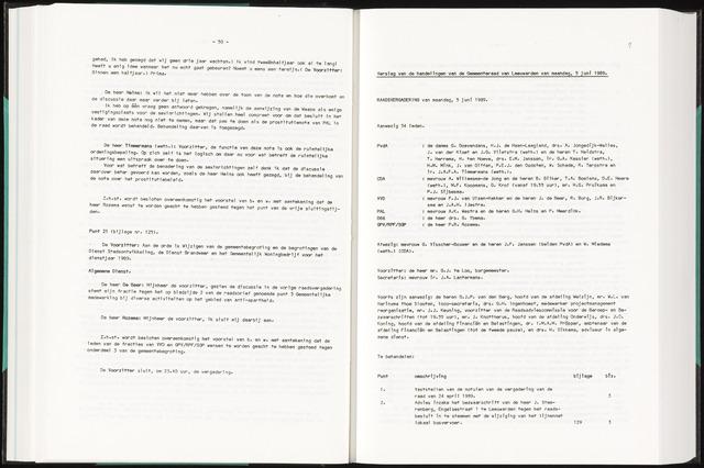 Raadsverslagen van de gemeente Leeuwarden, 1865-2007 (Notulen) 1989-06-05