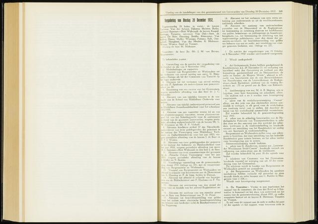 Raadsverslagen van de gemeente Leeuwarden, 1865-2007 (Notulen) 1932-12-20