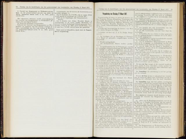 Raadsverslagen van de gemeente Leeuwarden, 1865-2007 (Notulen) 1917-03-27
