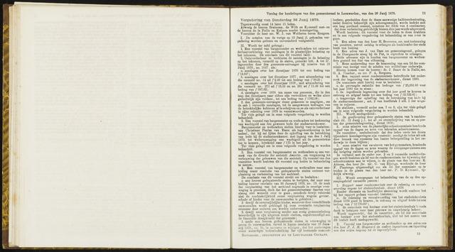 Raadsverslagen van de gemeente Leeuwarden, 1865-2007 (Notulen) 1879-06-26