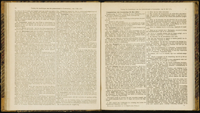 Raadsverslagen van de gemeente Leeuwarden, 1865-2007 (Notulen) 1874-05-28