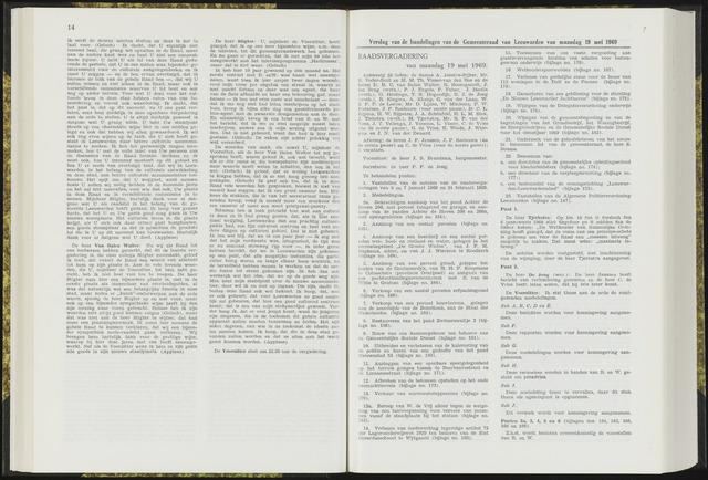 Raadsverslagen van de gemeente Leeuwarden, 1865-2007 (Notulen) 1969-05-19