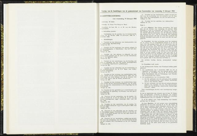 Raadsverslagen van de gemeente Leeuwarden, 1865-2007 (Notulen) 1961-02-08