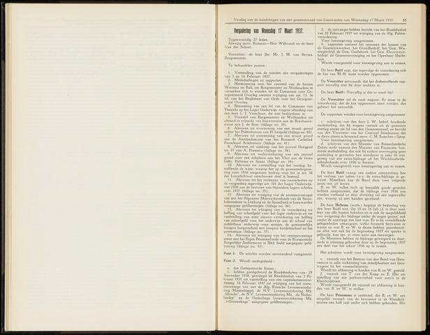 Raadsverslagen van de gemeente Leeuwarden, 1865-2007 (Notulen) 1937-03-17