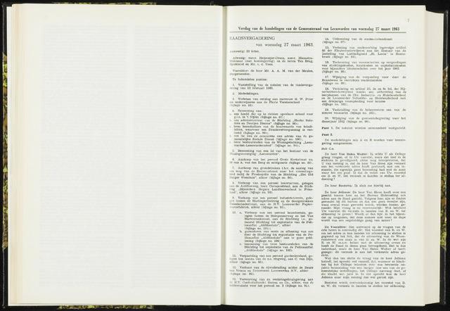 Raadsverslagen van de gemeente Leeuwarden, 1865-2007 (Notulen) 1963-03-27