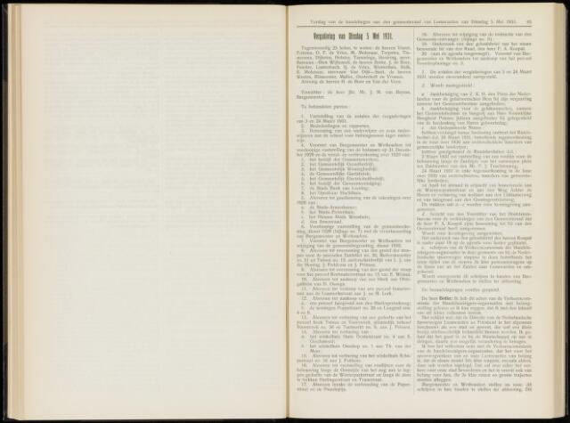 Raadsverslagen van de gemeente Leeuwarden, 1865-2007 (Notulen) 1931-05-05
