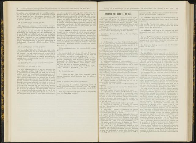 Raadsverslagen van de gemeente Leeuwarden, 1865-2007 (Notulen) 1923-05-08