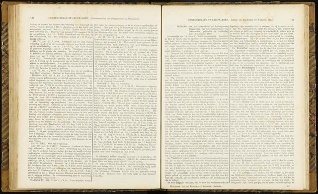 Raadsverslagen van de gemeente Leeuwarden, 1865-2007 (Notulen) 1866-08-16