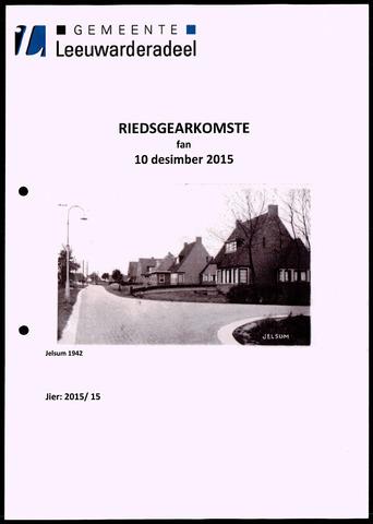 Notulen van de gemeenteraad van Leeuwarderadeel 2015-12-10