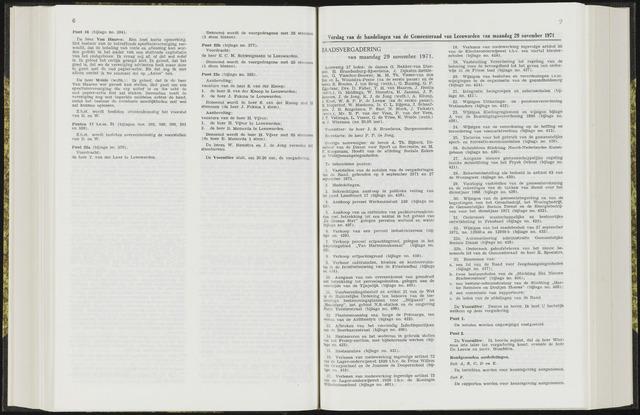 Raadsverslagen van de gemeente Leeuwarden, 1865-2007 (Notulen) 1971-11-19