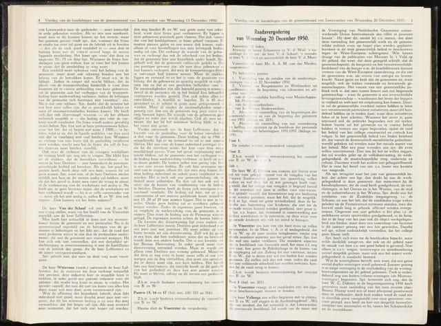 Raadsverslagen van de gemeente Leeuwarden, 1865-2007 (Notulen) 1950-12-20