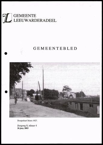 Notulen van de gemeenteraad van Leeuwarderadeel 2003-06-26