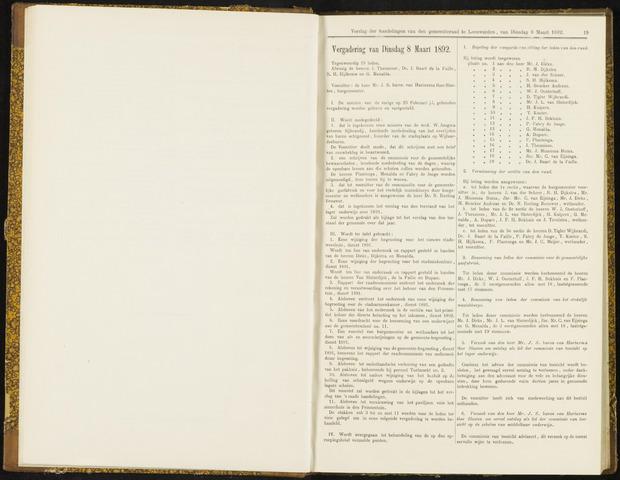 Raadsverslagen van de gemeente Leeuwarden, 1865-2007 (Notulen) 1892-03-08