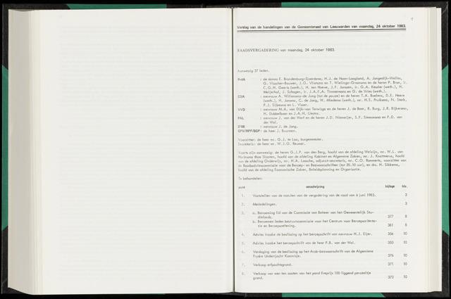 Raadsverslagen van de gemeente Leeuwarden, 1865-2007 (Notulen) 1983-10-24