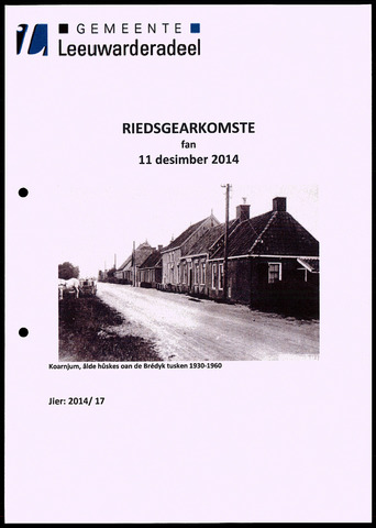 Notulen van de gemeenteraad van Leeuwarderadeel 2014-12-11