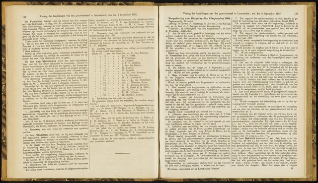 Raadsverslagen van de gemeente Leeuwarden, 1865-2007 (Notulen) 1885-09-08