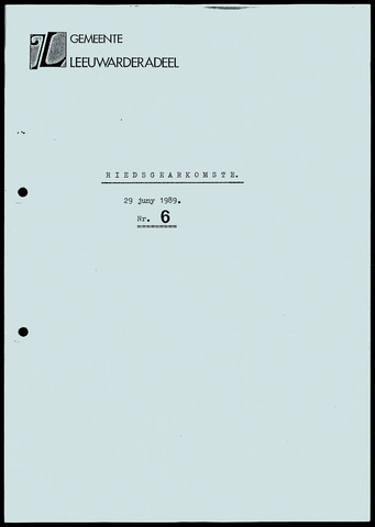 Notulen van de gemeenteraad van Leeuwarderadeel 1989-06-29