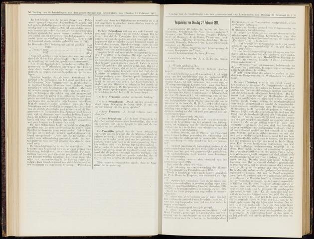 Raadsverslagen van de gemeente Leeuwarden, 1865-2007 (Notulen) 1917-02-27