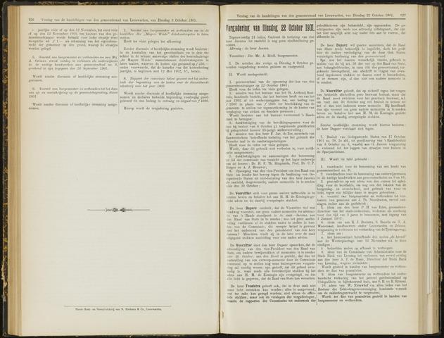 Raadsverslagen van de gemeente Leeuwarden, 1865-2007 (Notulen) 1901-10-22