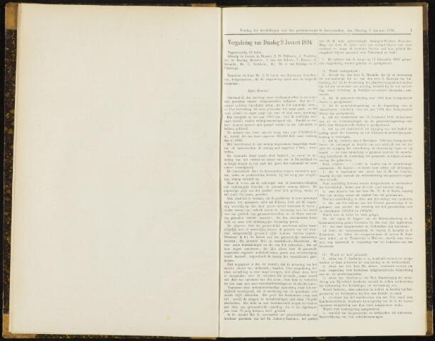 Raadsverslagen van de gemeente Leeuwarden, 1865-2007 (Notulen) 1894