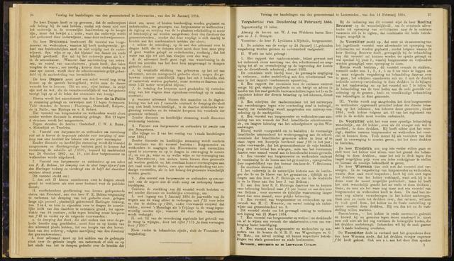 Raadsverslagen van de gemeente Leeuwarden, 1865-2007 (Notulen) 1884-02-14