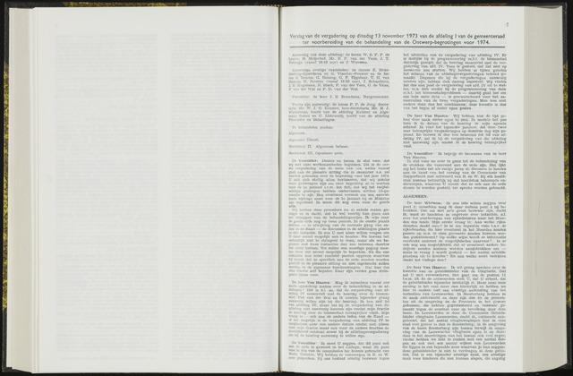 Raadsverslagen van de gemeente Leeuwarden, 1865-2007 (Notulen) 1973-11-13
