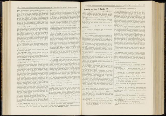 Raadsverslagen van de gemeente Leeuwarden, 1865-2007 (Notulen) 1926-11-09
