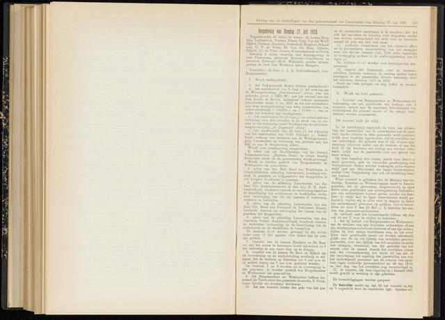 Raadsverslagen van de gemeente Leeuwarden, 1865-2007 (Notulen) 1920-07-27