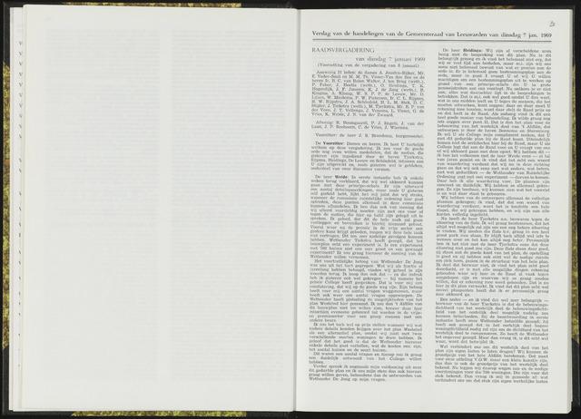 Raadsverslagen van de gemeente Leeuwarden, 1865-2007 (Notulen) 1969-01-07
