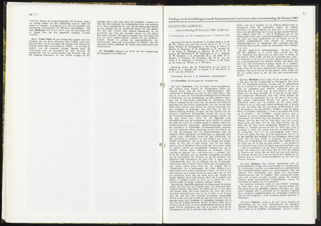 Raadsverslagen van de gemeente Leeuwarden, 1865-2007 (Notulen) 1968-02-28