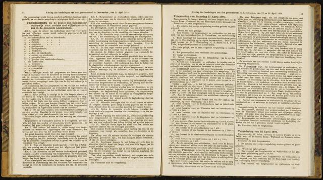 Raadsverslagen van de gemeente Leeuwarden, 1865-2007 (Notulen) 1875-04-17