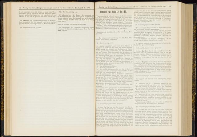 Raadsverslagen van de gemeente Leeuwarden, 1865-2007 (Notulen) 1921-05-24