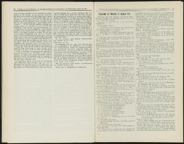 Raadsverslagen van de gemeente Leeuwarden, 1865-2007 (Notulen) 1941-08-27