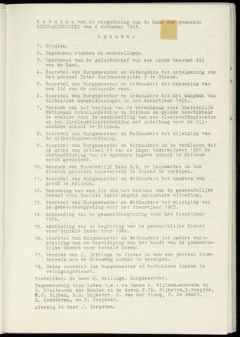 Notulen van de gemeenteraad van Leeuwarderadeel 1963-11-06