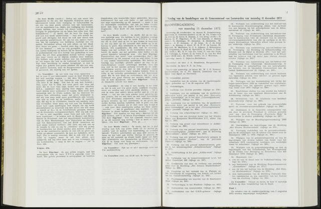 Raadsverslagen van de gemeente Leeuwarden, 1865-2007 (Notulen) 1972-12-11