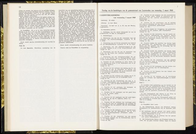 Raadsverslagen van de gemeente Leeuwarden, 1865-2007 (Notulen) 1960-03-02