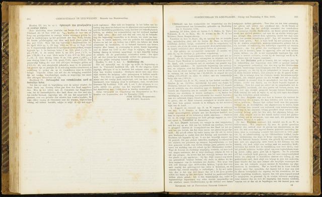Raadsverslagen van de gemeente Leeuwarden, 1865-2007 (Notulen) 1866-11-08