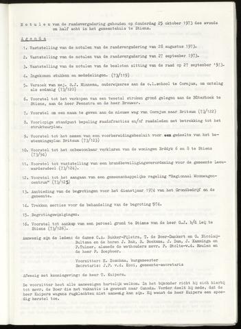 Notulen van de gemeenteraad van Leeuwarderadeel 1973-10-25