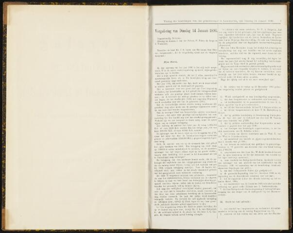 Raadsverslagen van de gemeente Leeuwarden, 1865-2007 (Notulen) 1896